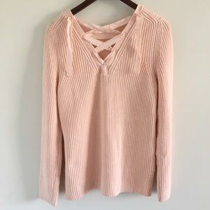 Banana Republic Lace Back Pullover Sweater Sz L